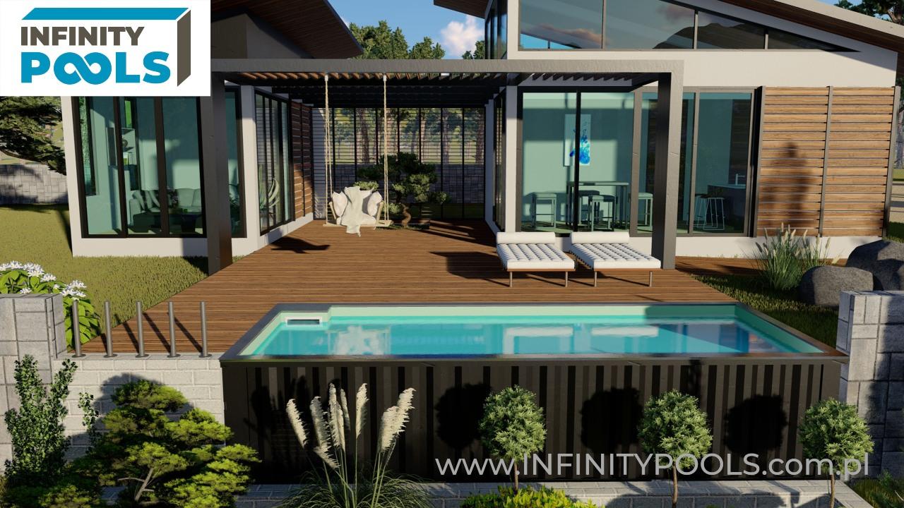 basen w kontenerze infinity pools