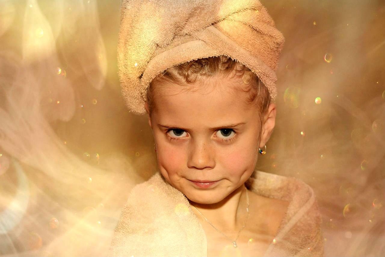 Sauna mokra, zdjęcie dziewczynka