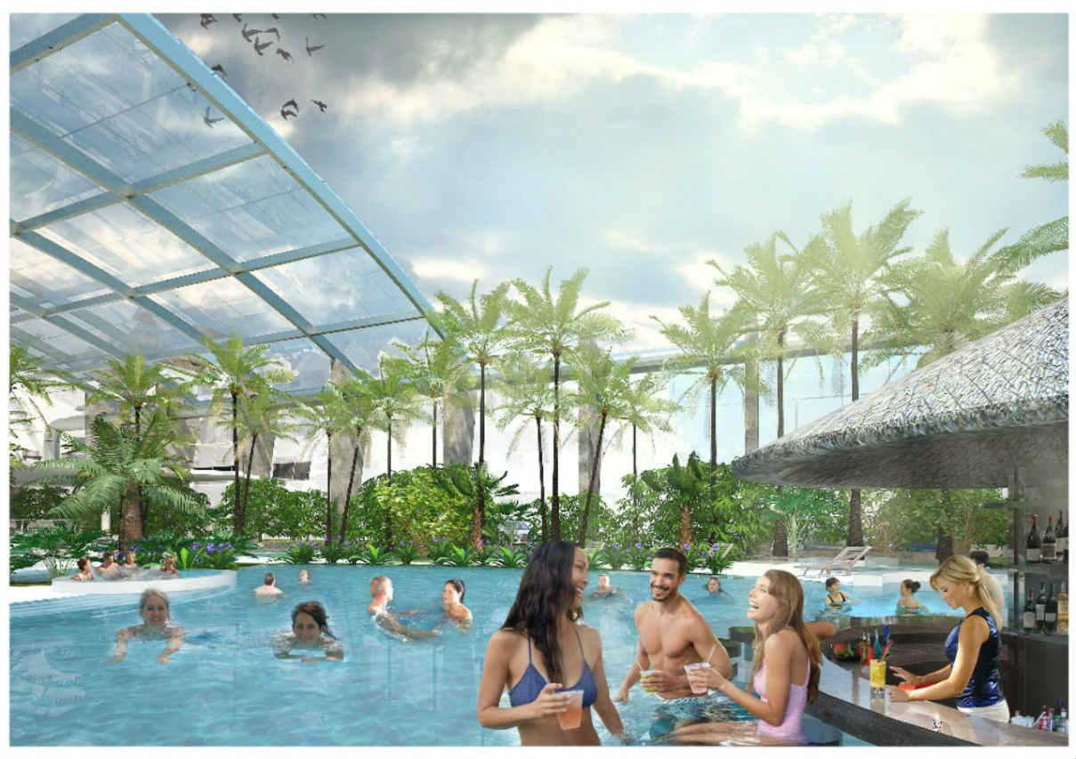 rozsuwany dach Baseny Tropikalne Binkowski Resort