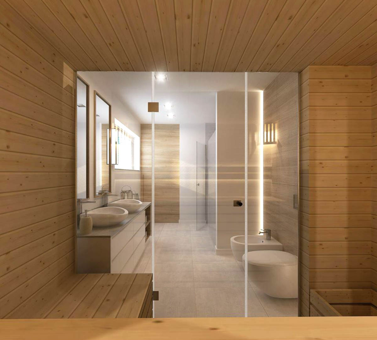 Ty też możesz mieć taki widok na łazienkę - z własnej sauny Golden Saunas