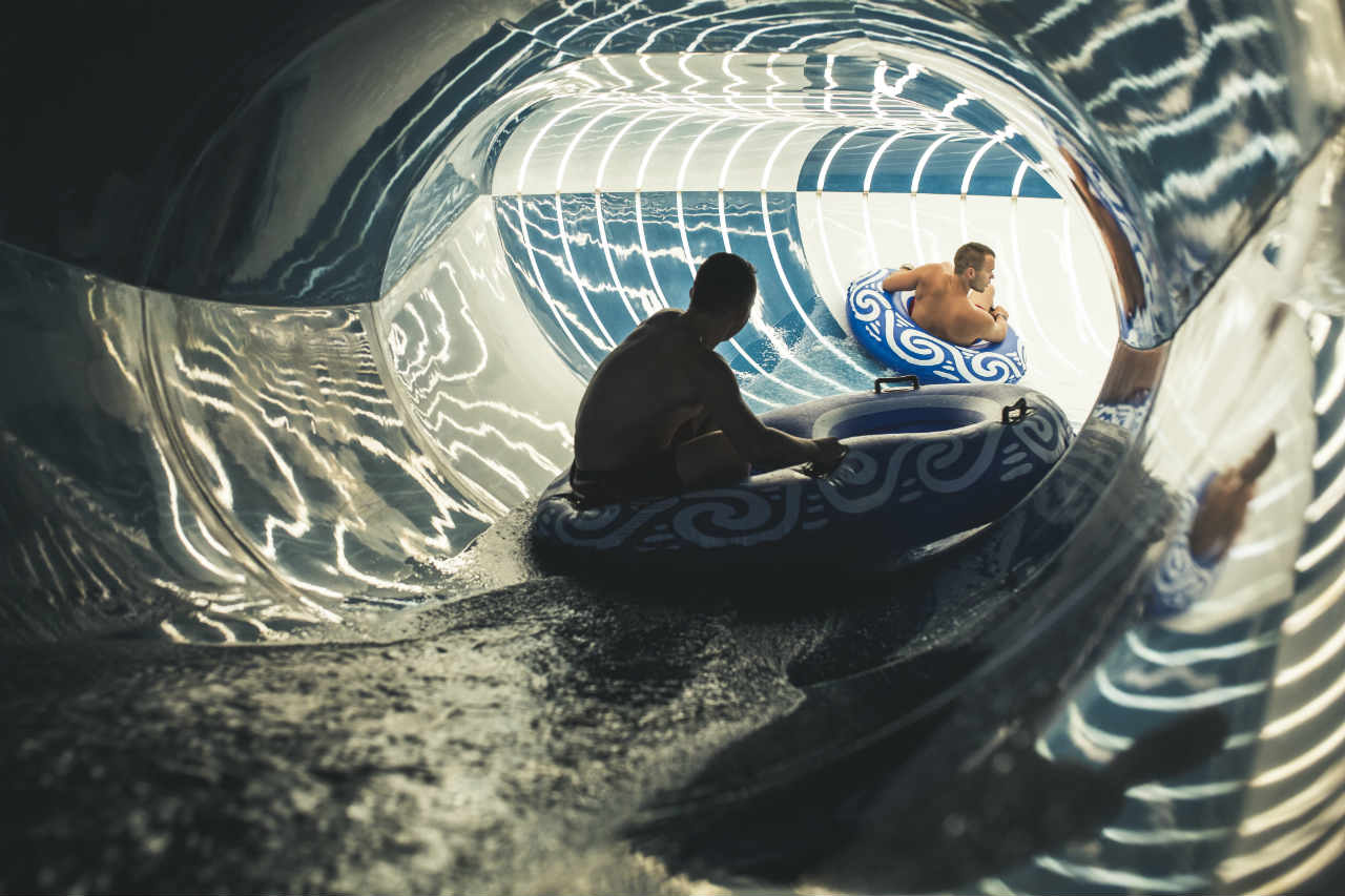 Water Slides w Aquapark Reda