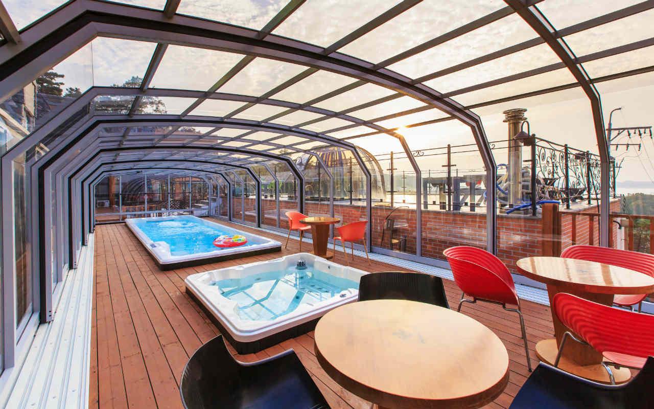 Zadaszenie basenu Alukov