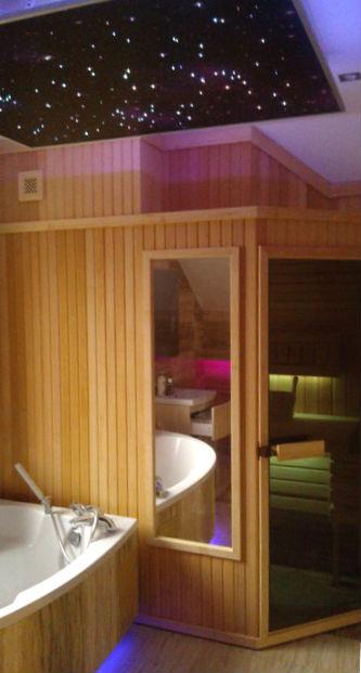 Sauna PBN - sauna z podświetleniem