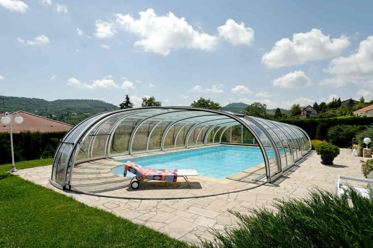 zadaszenie rozsuwane basenu - Alukov
