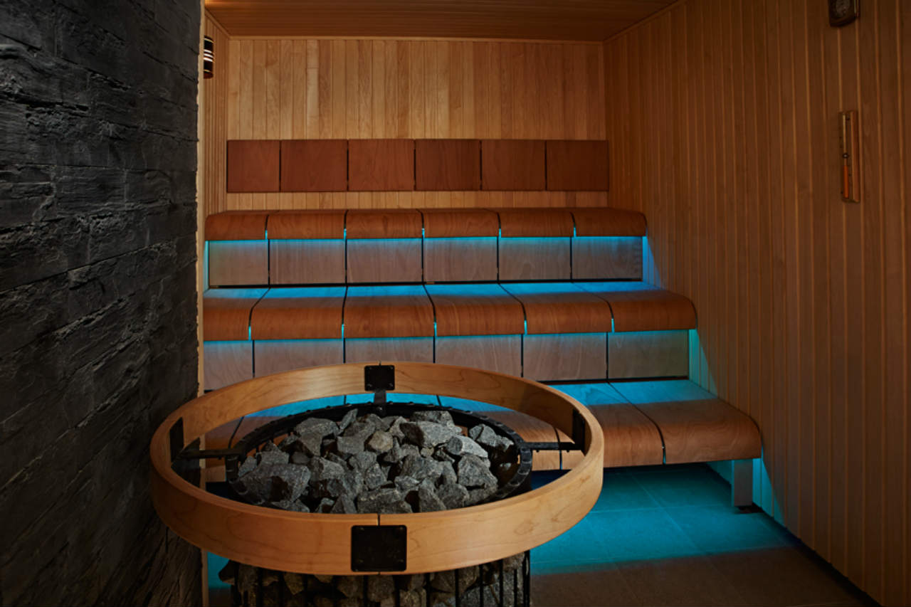 Sauna w RiverView Wellness Centre - Hotel InterContinetal