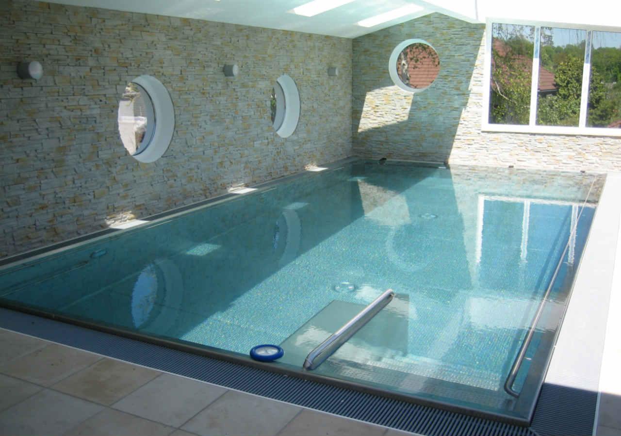 basen prywatny - niecka stalowa Berndorf