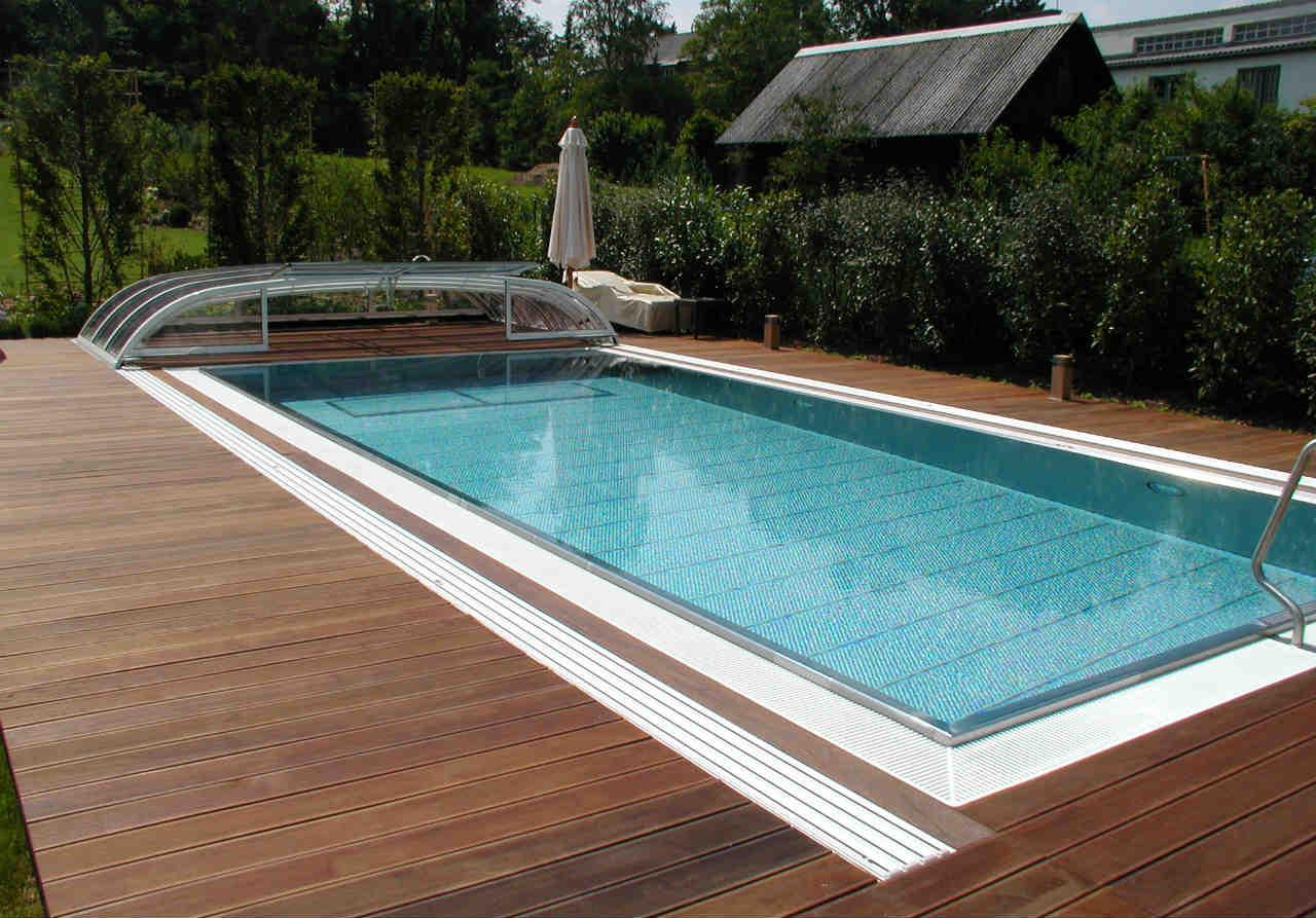 basen prywatny - niecka ze stali
