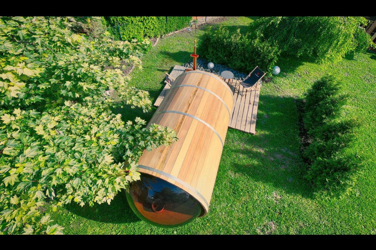 Cedrowa Sauna z drona