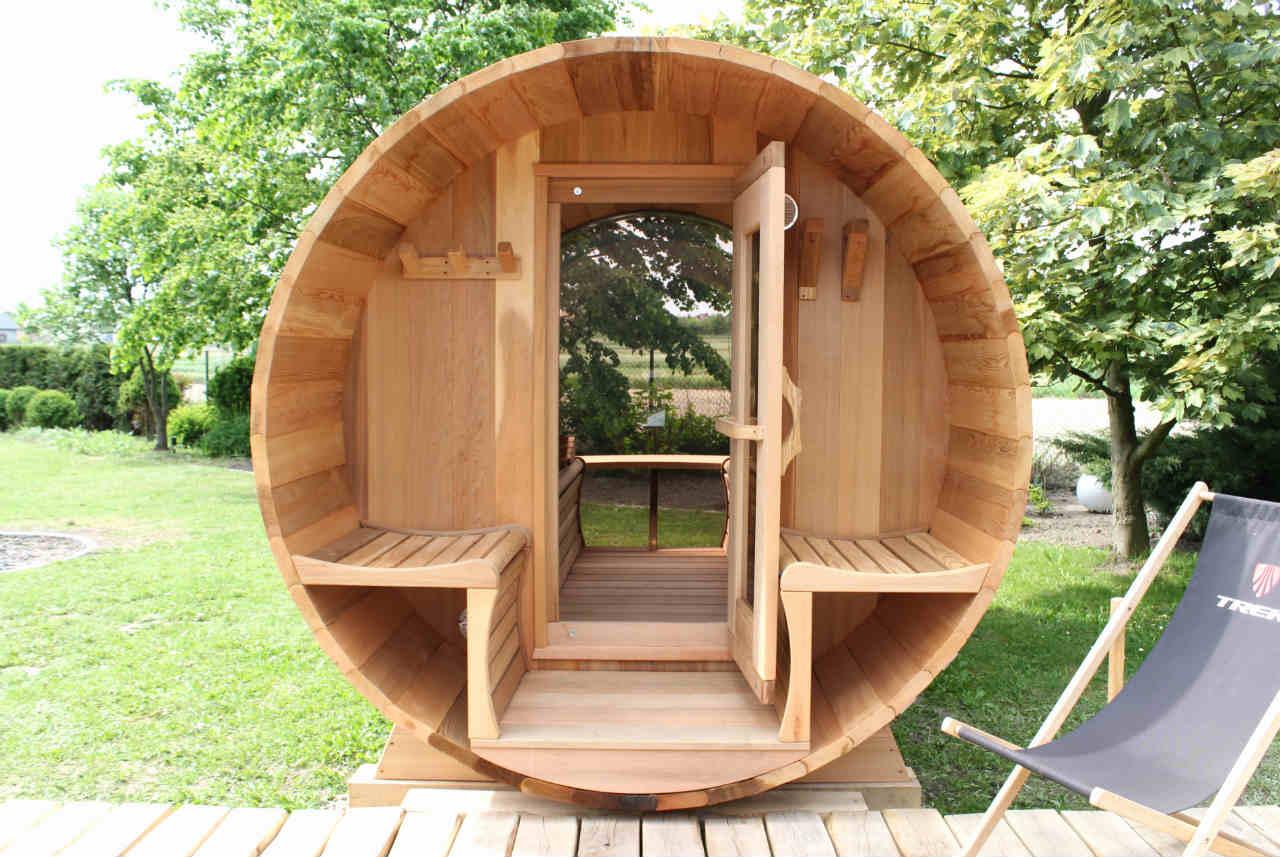 sauna cedrowa wejście