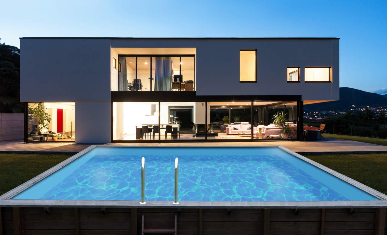drewniany basen