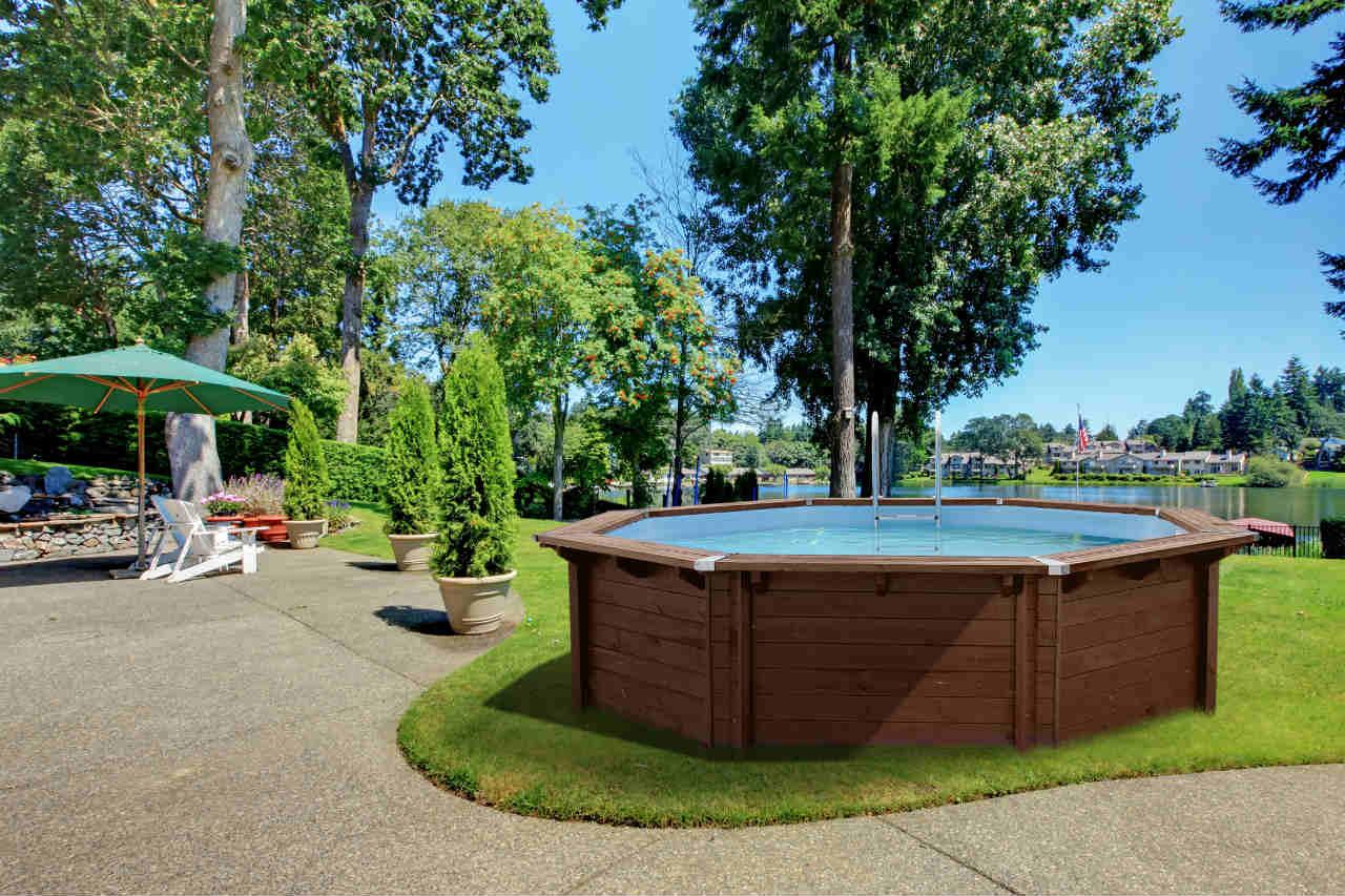 Octo - basen z drewna firmy Abatec