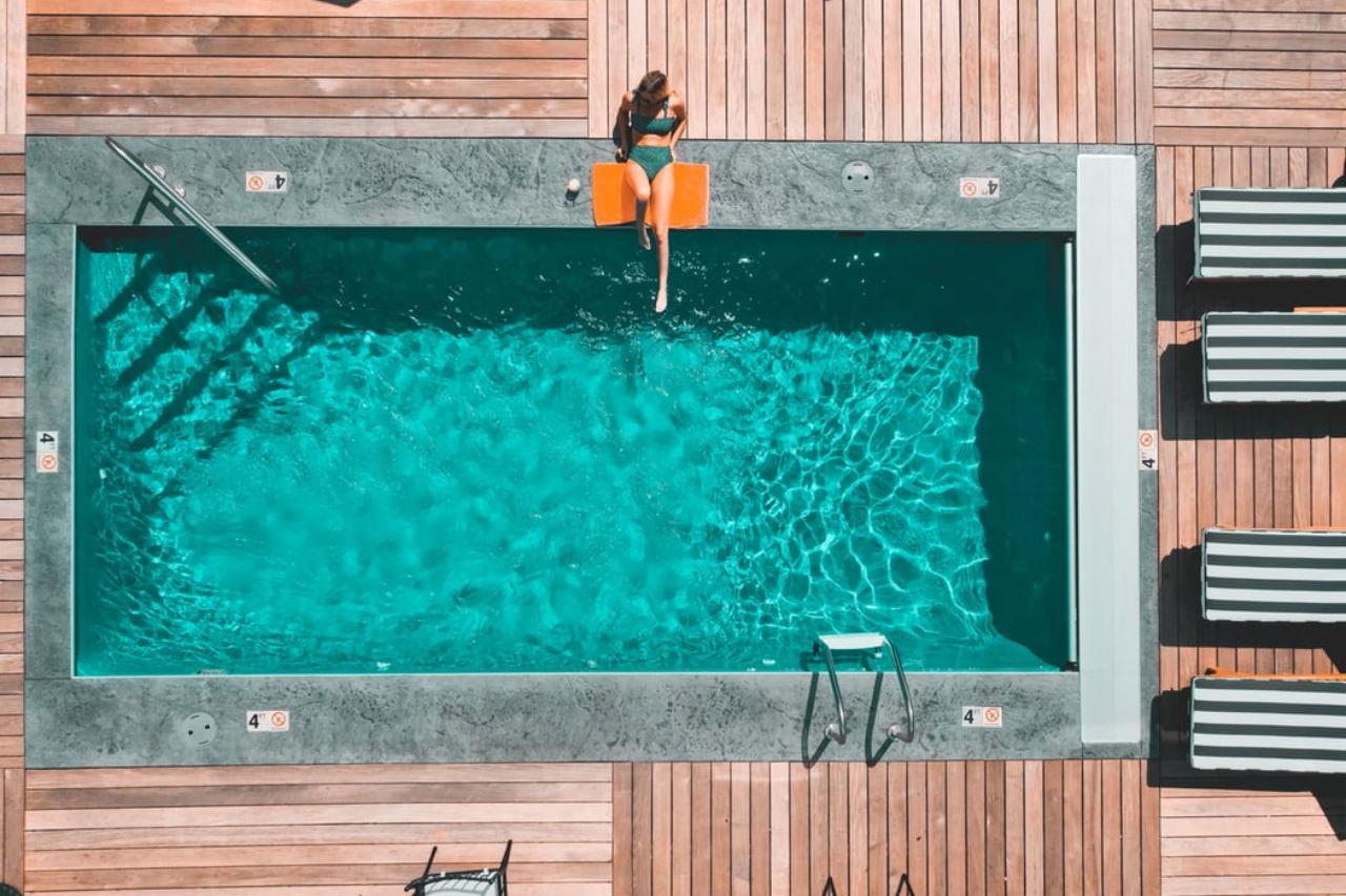 basen dziewczyna