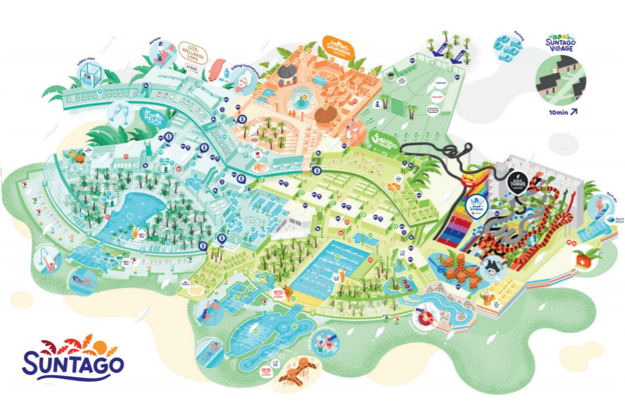 mapa Suntago Wodny Świat