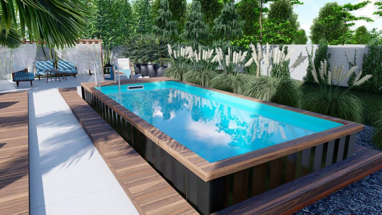 Baseny z wejściem z poziomu korony basenu basen w kontenerze (1)