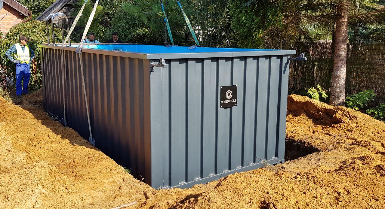basen przy bloku Baseny z kontenerów Producent cubepools