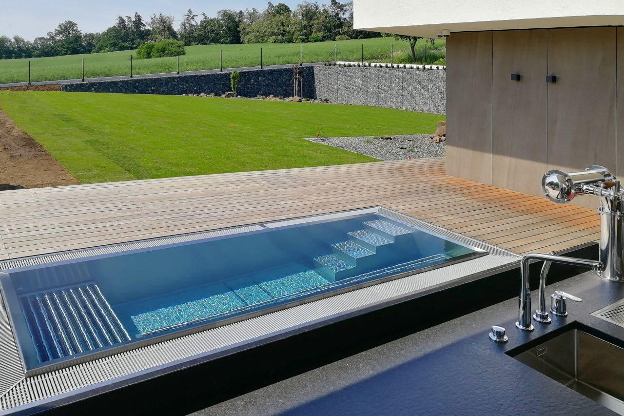 basen stalowy