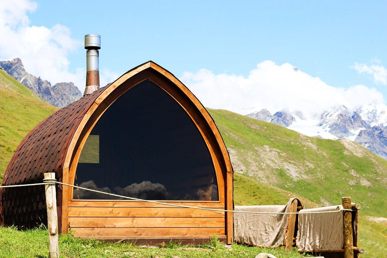 sauna na wyłączność z widokiem na góry